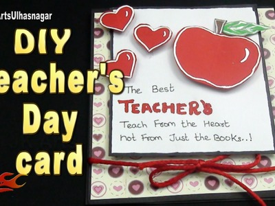DIY Easy Teacher's Day Greeting Card  |  JK Arts  1053  #TeachersDay #GreetingCard