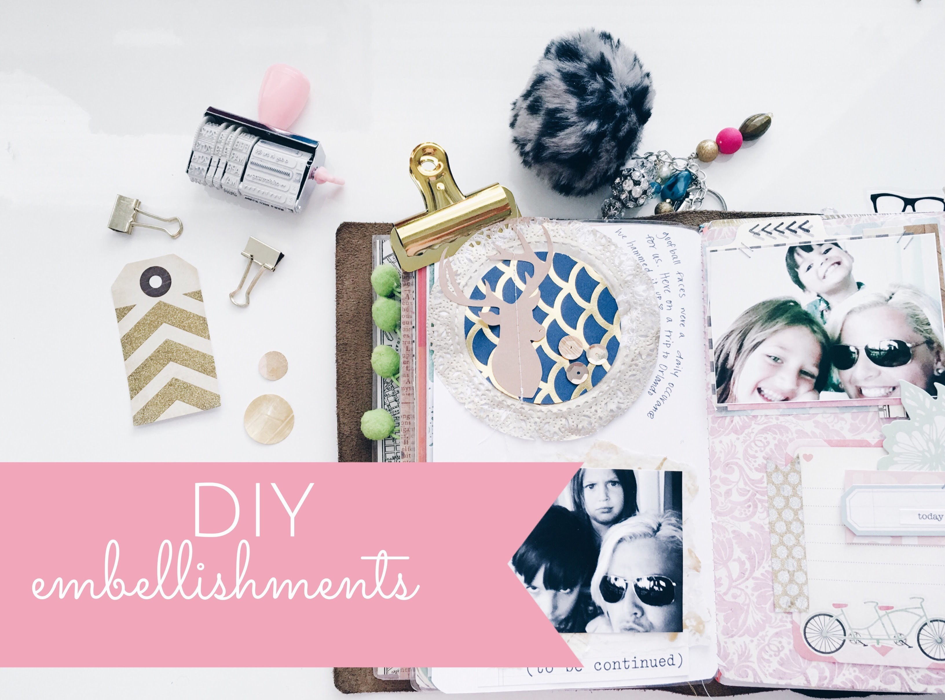 DIY embellishments using SCRAPS {DOILIES}
