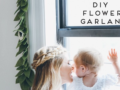 DIY | Eucalyptus Leaf Flower Garland for Nursery