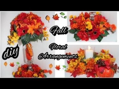 DIY Fall Floral Arrangement | Dollar Tree | Fall Wedding Centerpiece | Thanksgiving | Autumn
