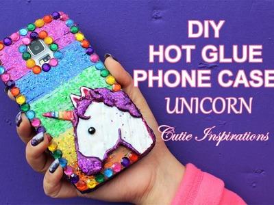 DIY HOT GLUE PHONE CASE - UNICORN - DIY PHONE CASE