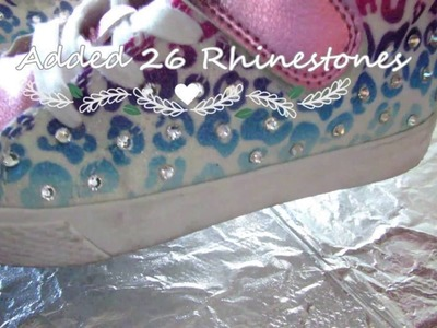 DIY: How to Apply Rhinestones to Bling your kids Shoes for Back To School