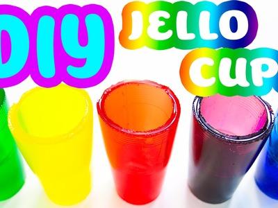 DIY How To Make Edible Rainbow Jello Gummy Cups!!!