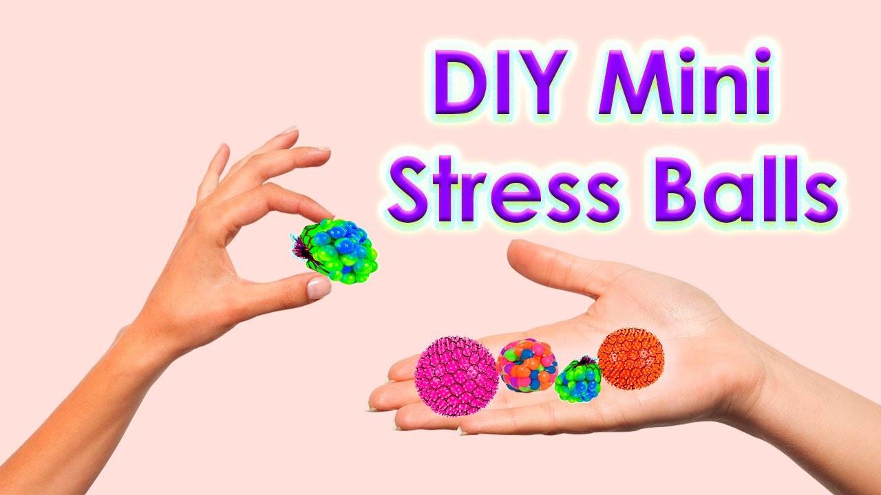 DIY Mini Stress Balls! Orbeez & Mesh Slime Stress Ball Miniatures!