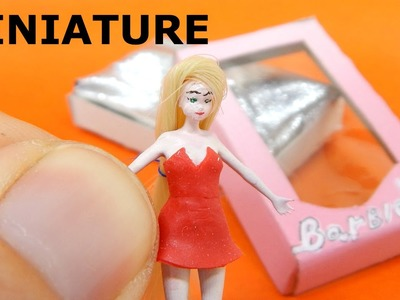 DIY Miniature Barbie Doll Tutorial for dollhouse. 3d printed craft HD