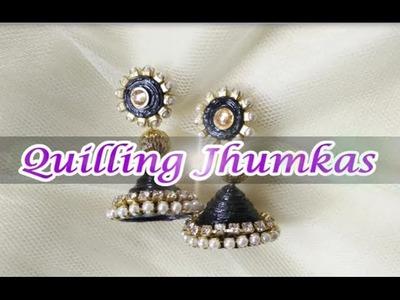 DIY paper Jhumka in 5 mins| Quilling earrings tutorial#2