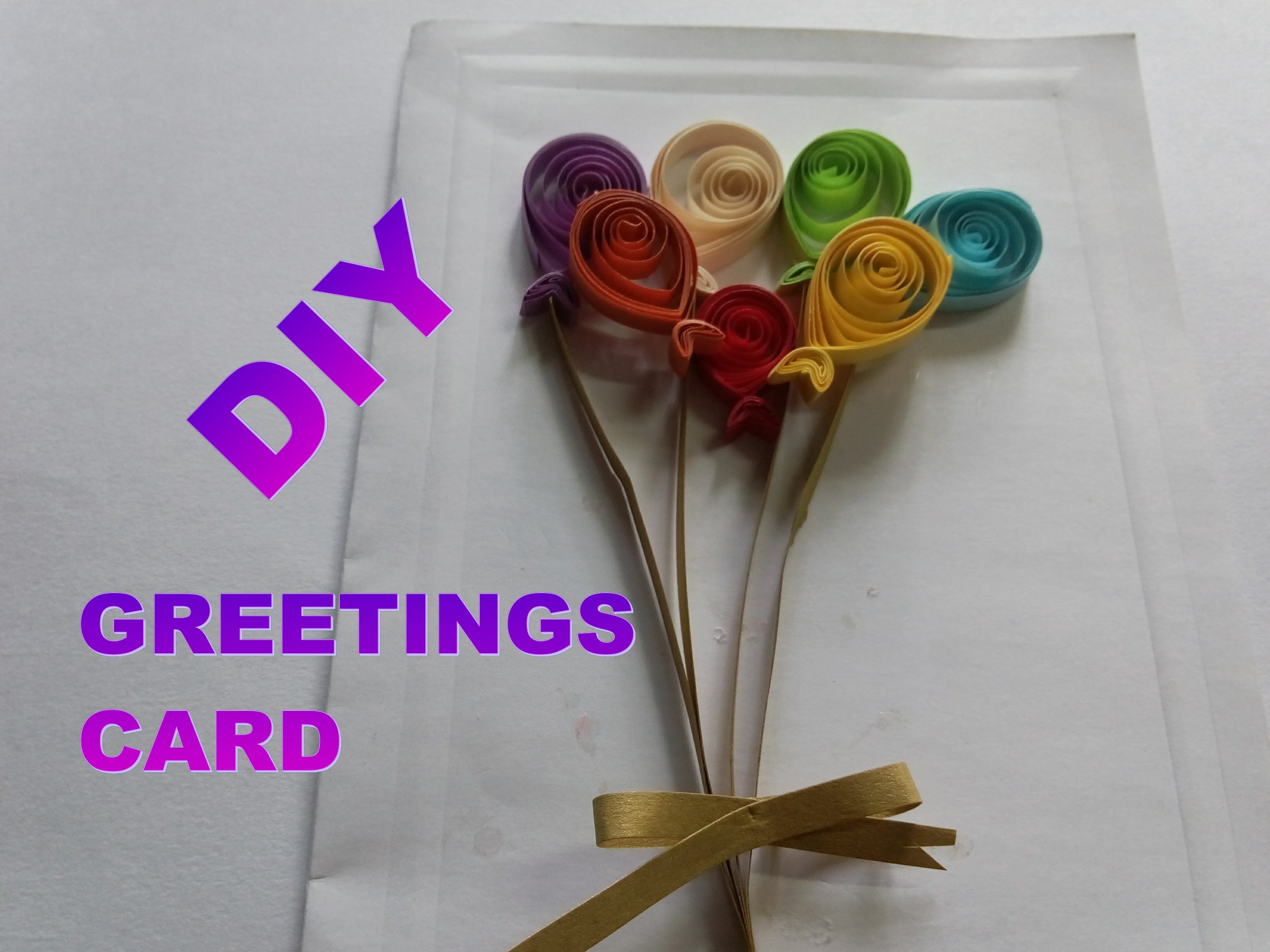 DIY PAPER QUILLING ART AND CRAFT - HOW TO MAKE BALLOONS GREETINGS CARD II SUMITA'S QUILLING ART