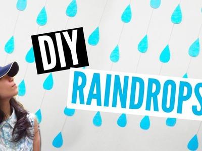 DIY Room Decor (Hanging Raindrops)