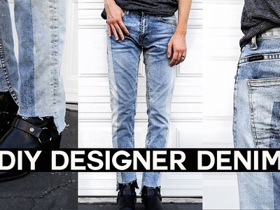 DIY Vetements Inspired Denim Jeans. Upcycled Denim
