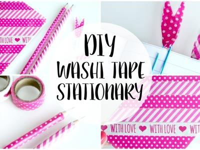 DIY Washi Tape Stationary | Back to School - ONLY £1!