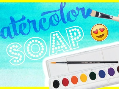 DIY WATERCOLOR SOAPS! PAINT WITH SOAP!