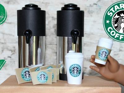 Doll Starbucks Craft | DIY American Girl Doll Coffee Cup Crafts