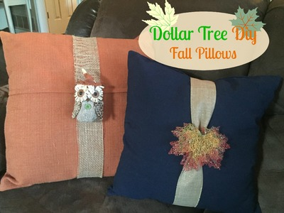 DOLLAR TREE FALL DIY | Fall Pillows!