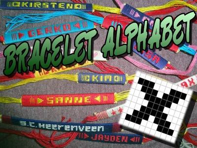 Friendship Bracelet Crochet Yarn, Alphabet: Letter X (Pretty but difficult!)