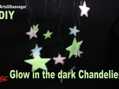 Glow in dark Star Chandelier. Jhumar | Easy Craft for Kids | How to make | JK Arts 1072