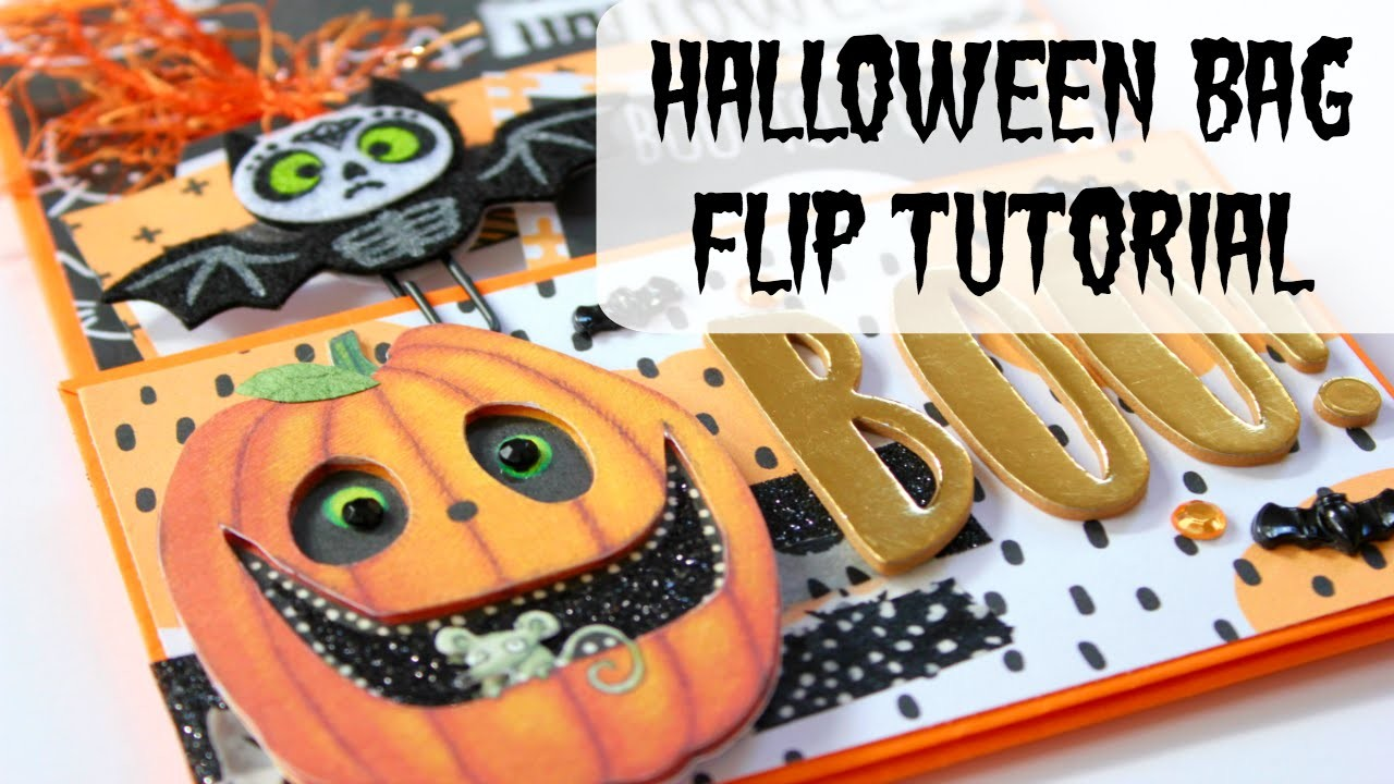 Halloween Bag Flip Tutorial | Halloween Craft Series 2016 #1 | Serena Bee