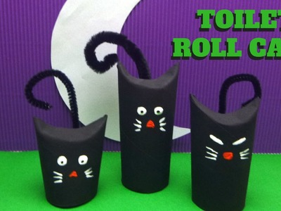 Halloween Craft - Toilet Paper Roll Cat - Toilet Paper Roll Crafts