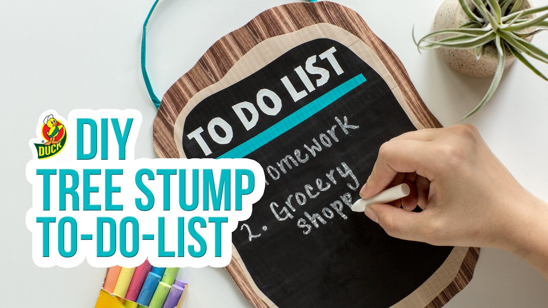 How to Craft a Duck Tape® Tree Stump To-Do List