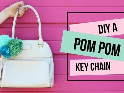 How to DIY a Pom Pom Keychain for Your Purse