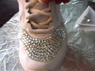 How to DIY Dazzle Sneakers with Clear Crystal Rhinestones to Look Super Bling Fly