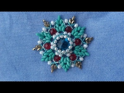 How to make a Beads Flower-DIY Beaded jewelry Ideas for Brush-Jewelry Making Tutorials out of Beads