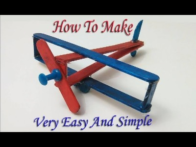 "How to make a ice cream stick plane ""Easy&Simple"""