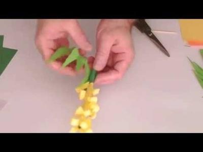 How to make a paper flower  diy flowers craft handicraft