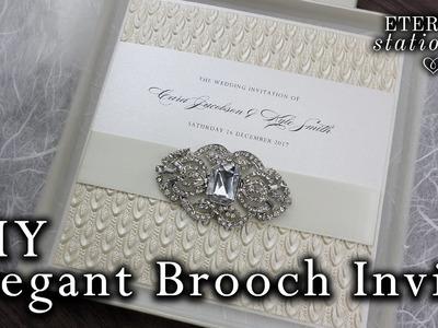 How to make elegant brooch pocket invitations | DIY invitation