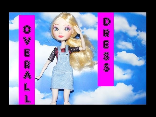 How to make Overall Dress for Dolls Tutorial DIY