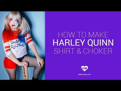 How to make Suicide Squad's Harley Quinn Shirt and DIY Chocker