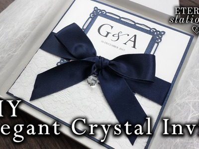 How to make your own wedding invitation with a Swarovski crystal | DIY invitation
