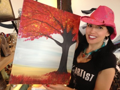 How to Paint a Tree with the Tipsy Artist