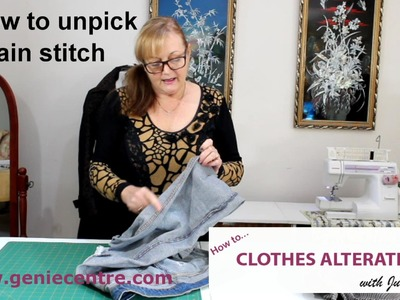 How to unpick chain stitch