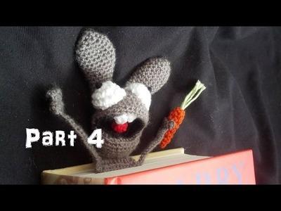 Learn How to Crochet Amigurumi Bunny Bookmark Part 4