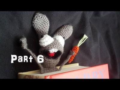Learn How to Crochet Amigurumi Bunny Bookmark Part 6