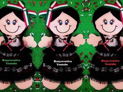 Mexican rag dolls -  DIY art & craft - free pattern.Ronycreativa English Channel