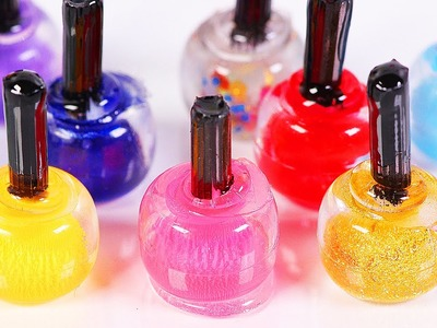 Miniature doll nail polish bottle DIY [easy craft] Dollhouse DIY