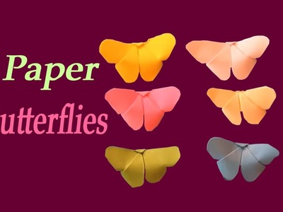 [ Origami ] How To Make Paper Butterflies |  DIY Paper Crafts | Easy Paper Crafts