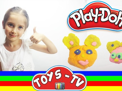 Play doh DIY - How to Do a Mum Bear & Baby Bear with Ece (5 years) - Play dough Funny Tutorial