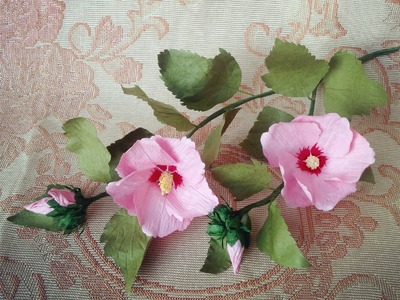 Rose Of Sharon | Hibiscus Syriacus From Twisted Paper - Craft Tutorial