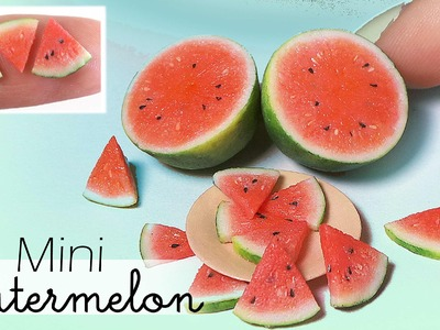 Simple Miniature Watermelon Tutorial. Dolls.Dollhouse DIY