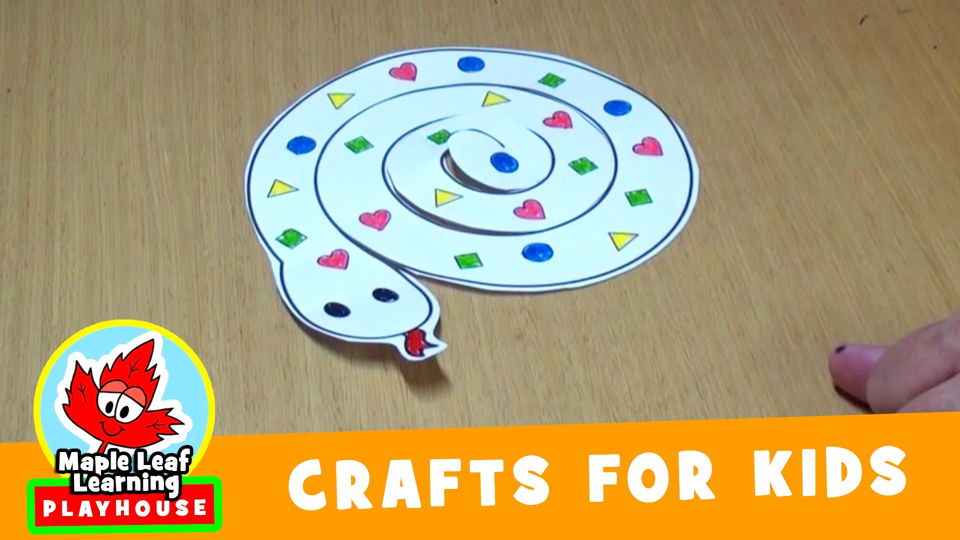 Snake Craft for Kids | Maple Leaf Learning Playhouse