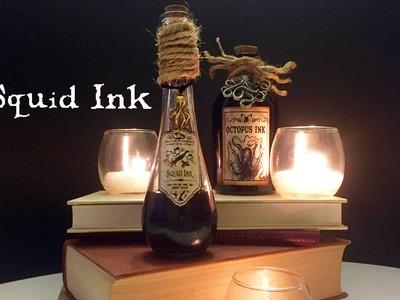 Squid Ink : DIY Potion Bottle : Halloween Prop (Harry Potter Inspired)