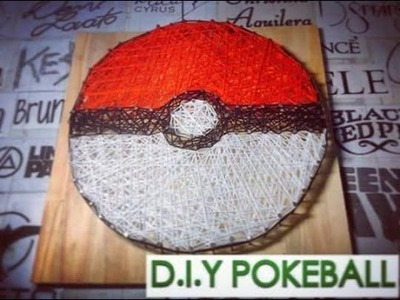 [String Art] How To Make Pokeball - Craft For Kid