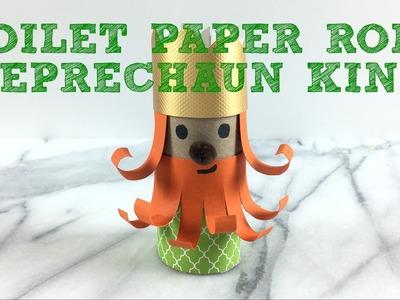 Toilet Paper Roll Leprechaun King Easy Craft for Kids