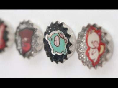 [Back to School] How to DIY Super Easy Miniature Bottlecap Resin Magnets Tutorial