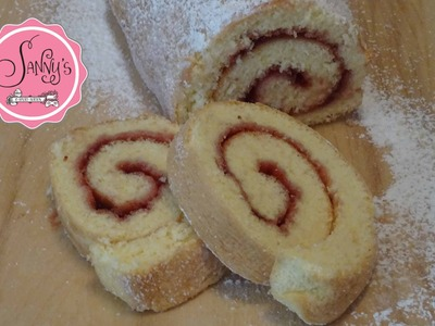 Biskuitroulade.roll cake.how to make by Sanny´s e-Sport Torten