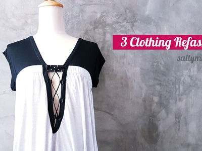 DIY 3 Clothing Refashions + 1 Quick Fix