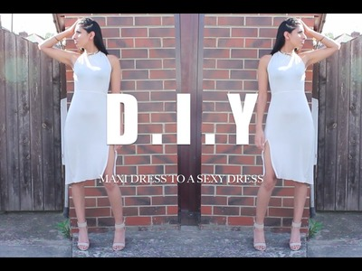 DIY : A MAXI DRESS (NO SEWING) QUICK AND EASY