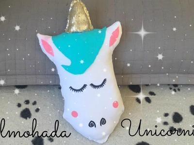 DIY Almohada Unicornio Sin Coser. Pillow Unicorn